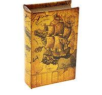 """Сейф-книга кожа """"Морской круиз"""".  5 см × 10,5 см × 17 см, фото 1"""