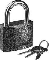 "Замок STAYER ""STANDARD"" навесной, металлический корпус, закаленная дужка, 63 мм"