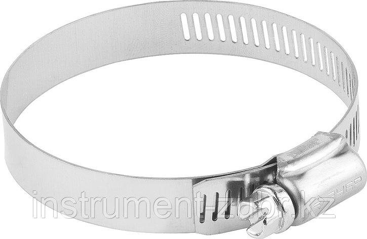 Хомуты, нерж. сталь, просечная лента 12.7 мм, 65-89 мм, 50 шт, ЗУБР Профессионал, фото 2