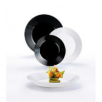 Столовый сервиз Luminarc Harena White&Black 18 предметов на 6 персон
