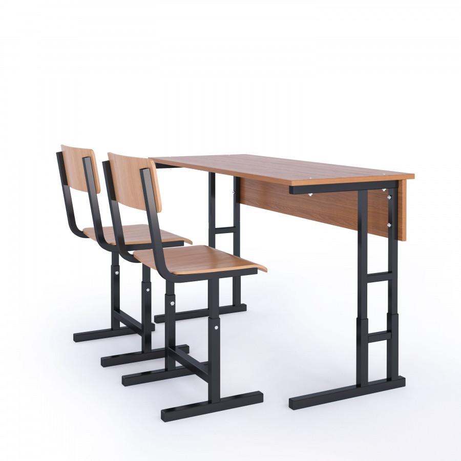 Парта школьная 2-х местная+ 2 стула (с регулировкой)