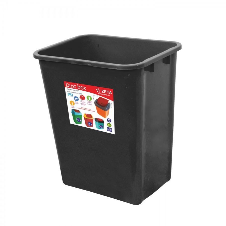 Ведро для мусора, чёрное (22 л.)