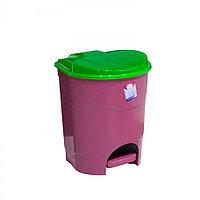 Ведро мусорное с педалью, цветное (8 л.)