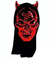 Маска Дьявола на Хэллоуин с капюшоном