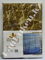 Водонепроницаемая тканевая шторка для ванной Miranda Mermer Su Водные блики (коричневая) 180*200