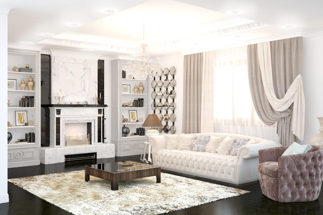 Дизайн интерьера гостиной - фото 1