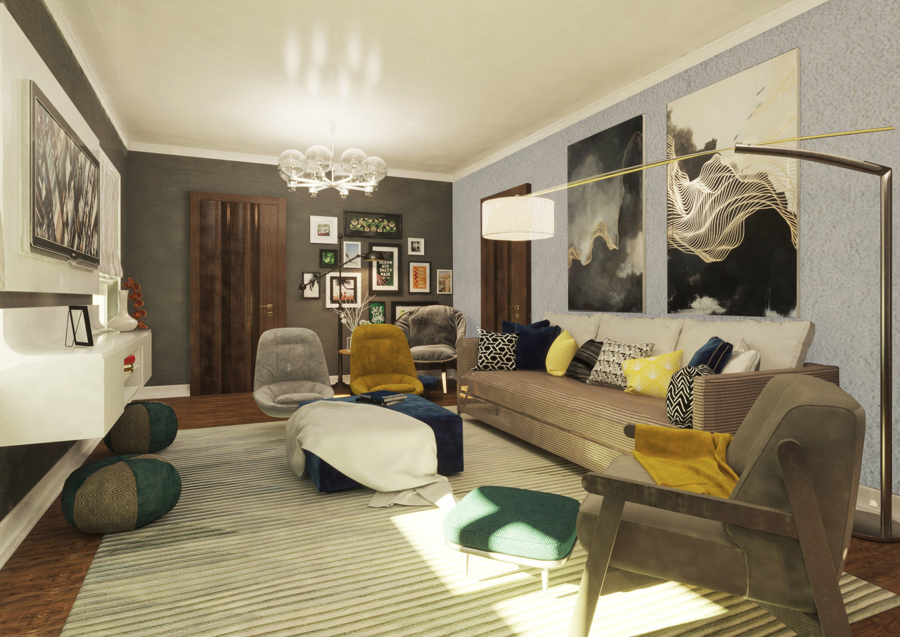 Дизайн интерьера гостиной - фото 2