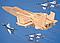 3d деревянный пазл Истребитель, фото 2
