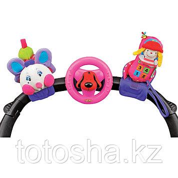 K'S Kids Набор развивающих игрушек для коляски: гусеничка, руль,телефон