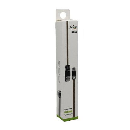 Кабель Xstar 25см Lightning USB, фото 2