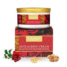 Крем Vaadi против морщин с экстрактами миндаля, зародышами пшеницы и розой, 150 гр.