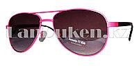 """Детские солнцезащитные очки """"Капля"""" (темно-розовые)"""
