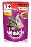 Whiskas  Мини-филе с говядиной Вискас пауч для кошек, 85г., фото 1