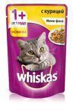 Whiskas Мини-филе с курицей Вискас пауч для кошек, 85г., фото 1