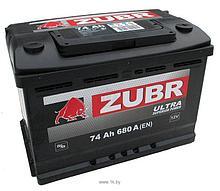 Аккумулятор ZUBR Ultra CT-74 для машин с объемом двигателя от 2 до 3 литров