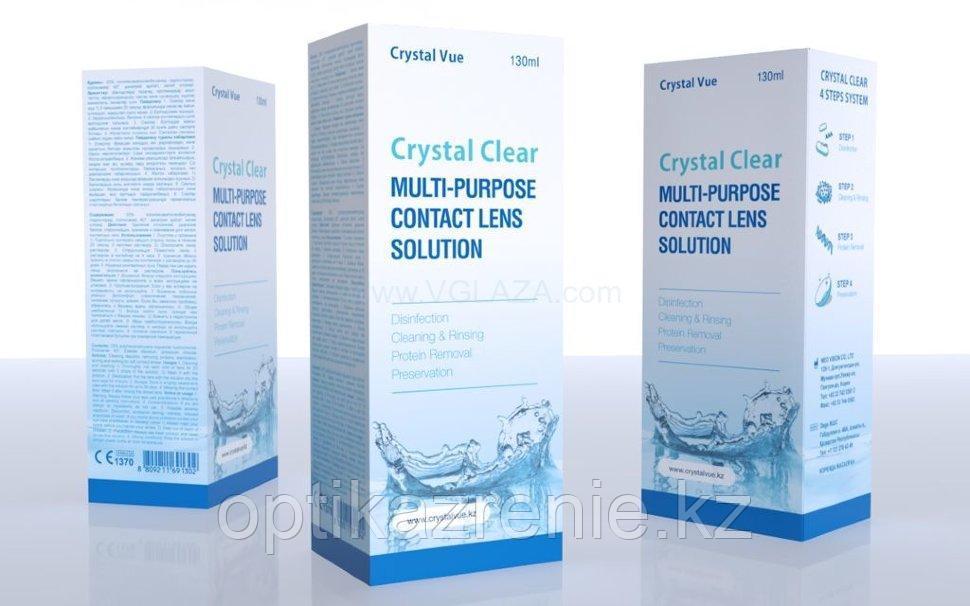 Универсальный раствор для ухода за контактными линзами Crystal Clear  130 мл