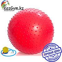 Фитбол, мяч для фитнеса массажный с насосом (d85см), фото 1