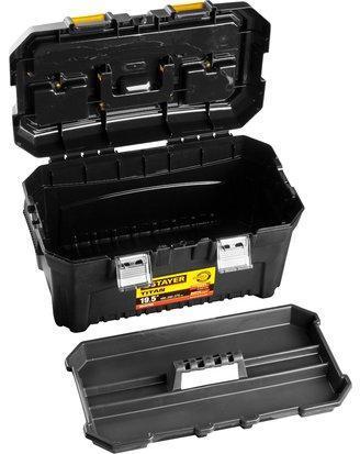 Ящик для инструмента пластиковый, STAYER  38016-19 TITAN-19, 490 x 262 x 250 мм, фото 2