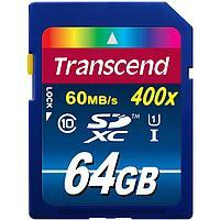 Карта памяти SDXC Transcend 64GB 400x 60 MB/s Class 10 UHS-I, фото 1