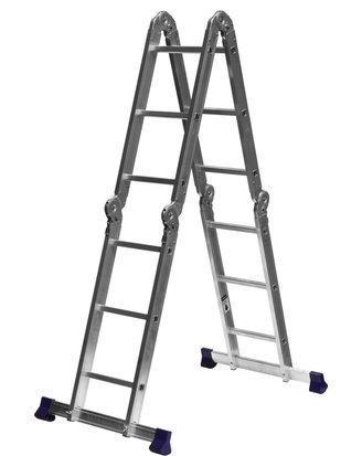 Лестница трансформер СИБИН алюминиевая, 4x3 ступени, фото 2
