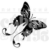 """ФП штамп """"Бабочка фантазийная"""""""