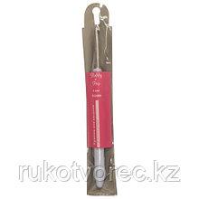 953400 Крючок для вязания с резиновой ручкой, 4 мм, Hobby&Pro