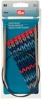 211290 Спицы круговые алюминиевые с гибкой леской, 40 см*5 мм, Prym