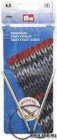 212150 Круговые спицы, латунь, серебристые, 40 см 4,50 мм