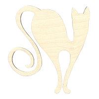 L-172 Деревянная заготовка кошка 15*14см 'Астра'