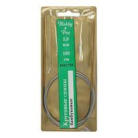 942720 Спицы круговые с металлическим тросиком, бамбук, 100 см*2 мм, Hobby&Pro