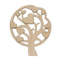 L-773 Деревянная заготовка декор. элемент 'Сердечное дерево' 15,5*19 см Астра