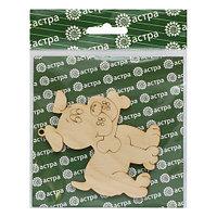 L-828 Деревянная заготовка фигурка-подвеска 'Щеночек с косточкой' 8*9 см Астра