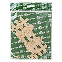 L-784 Деревянная заготовка ключница-вешалка 'Щенок и котёнок' 17,5*8см Астра