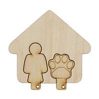 L-842 Деревянная заготовка набор для ключей 'Моя хозяйка' 9,5*9 см Астра