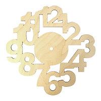 L-189 Деревянная заготовка циферблат 'Цифры', внутр. 11см, внешний 30см, 'Астра'