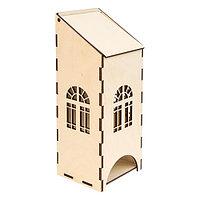L-283 Деревянная заготовка 'Чайный домик c пологой крышей', 9*8*23 см, 'Астра'