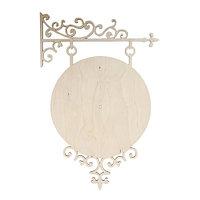 L-664 Деревянная заготовка циферблат 'Старинные часы' 35*53 см, Астра