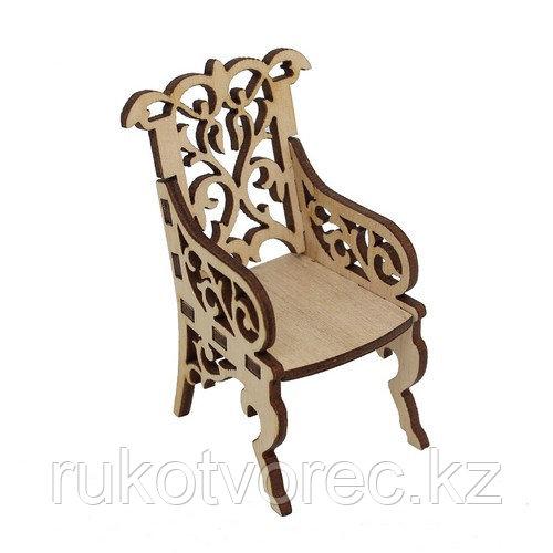 L-660 Деревянная заготовка креслице резное 4*5*7,5 см, Астра