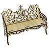 L-661 Деревянная заготовка диванчик резной 10,5*4,5*7см, Астра