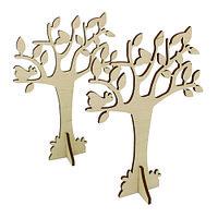 L-714 Деревянная заготовка 'Дерево' 11*15,5 см, (2шт) Астра