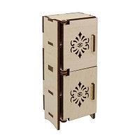 L-722 Деревянная заготовка кукольная мебель 'Шкаф-пенал' 5*3,5*13 см Астра