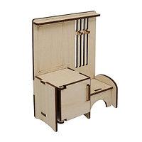 L-721 Деревянная заготовка кукольная мебель 'Прихожая' 10*13*5,5 см Астра