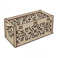 L-680 Деревянная заготовка шкатулка для мелочей 'Орнамент' 17,5*9*8 см, Астра