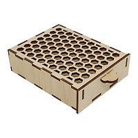 L-690 Деревянная заготовка коробочка 'Соты' 13*9,5*3 см, Астра