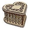 L-728 Деревянная заготовка шкатулка фигурная 'Сердечко'10*10*6 см, Астра