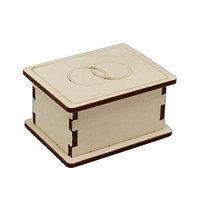 L-772 Деревянная заготовка шкатулочка 'Обручальные кольца' 6,5*4,5*3,5 см Астра