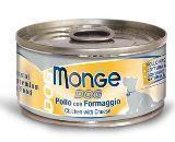 Monge Naturale 95г цыпленок с сыром консервы для собак Chunks Chicken & Cheese, фото 1