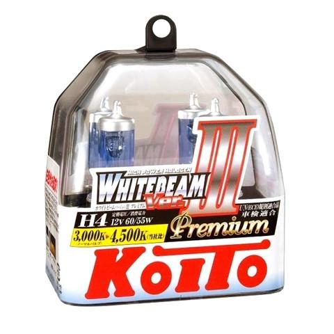 Галогенные лампы H-4 Koito WhiteBeam III, 4500K