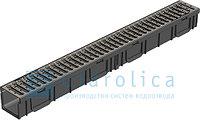 Канал с оцинкованной решеткой, 1000*115*95 мм, Gidrolica