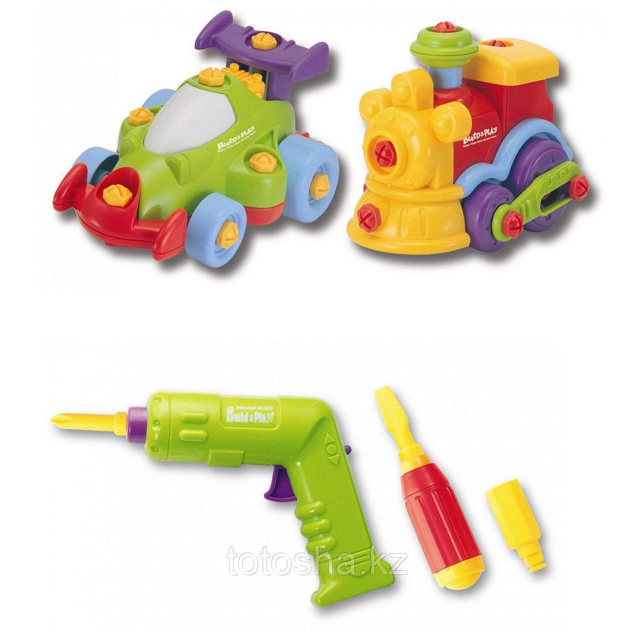 Keenway Набор Build&Play - машинка + паровозик ( 2 в 1 )